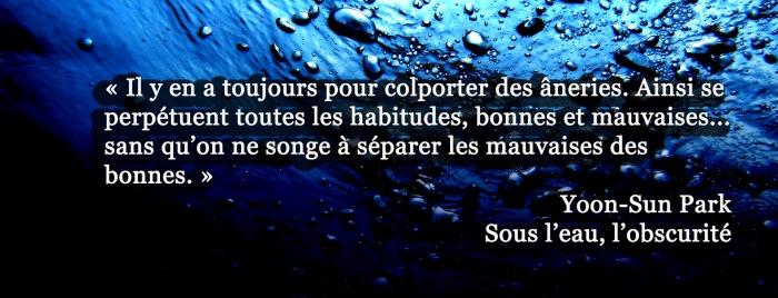 citation Sous l'eau l'obscurité